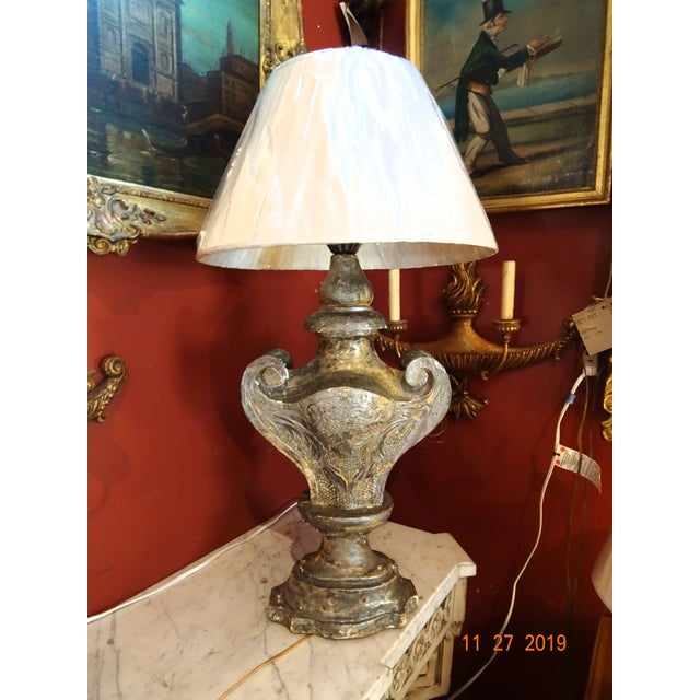 19th Century Silver Gilt Lamp For Sale - Image 13 of 13