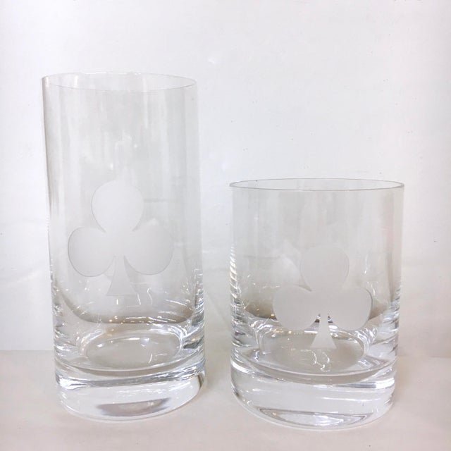 a1f8f1181d9 Crystal Kate Spade  Gin Rummy  Crystal Barware - Set of 8 For Sale -