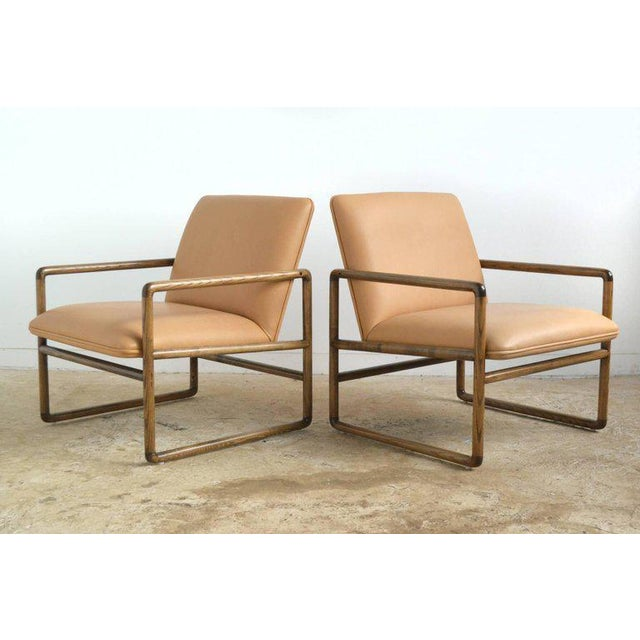1970s Pair of Ward Bennett Lounge Chairs by Brickel For Sale - Image 5 of 10