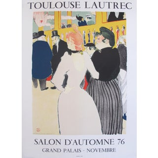1976 French Exhibition Toulouse Lautrec Poster