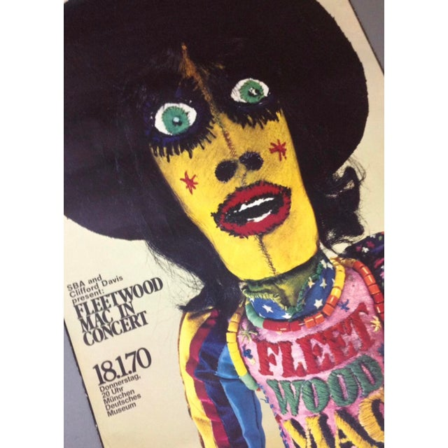 1970 Fleetwood Mac Concert Poster by Gunther Kieser Rare For Sale - Image 5 of 5