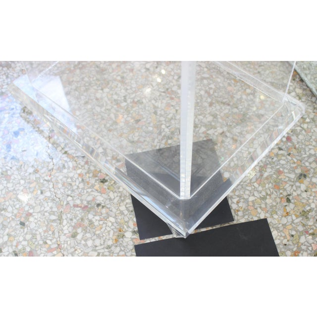 """Stone Mid-Century Modern Beatrice Eiges Marble Sculpture """"Mother and Child Embracing"""" on Custom Lucite Base For Sale - Image 7 of 13"""