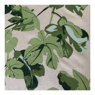 Peter Dunham Fig Leaf Linen Fabric- 2 3/4 Yards For Sale