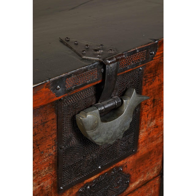 Iron 19th Century Korean Chest For Sale - Image 7 of 10