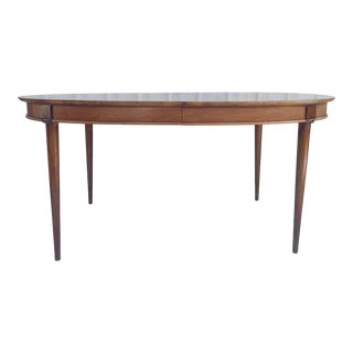 Mid-Century Modern Dining Table With Three Leaves For Sale