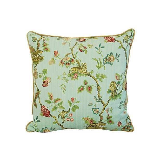 Italian Scalamandre Fleur Des Indes Pillows - Pair - Image 10 of 11