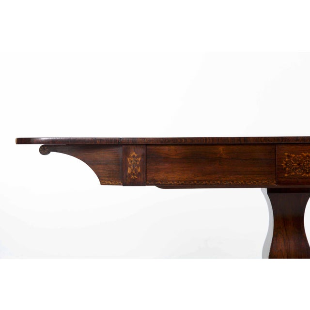 Wood 19th Century English Regency Antique Sofa Table For Sale - Image 7 of 13