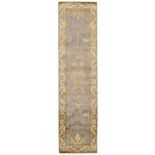 """Traditional Pasargad N Y Original Oushak Design Hand-Knotted Rug - 2'7"""" X 9'10"""""""