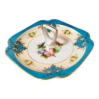 Antique Noritake Porcelain Hors d'Oeuvres Server For Sale