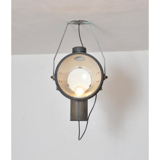We have a near identical pair of factory or railway, well aged copper lanterns with enamel interior. This type of lantern...