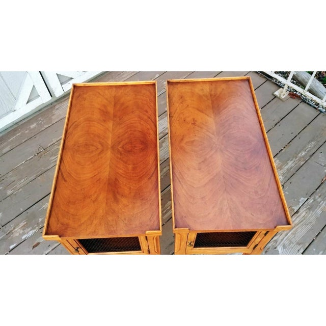 1980s 1980s French Walnut End Tables - a Pair For Sale - Image 5 of 13