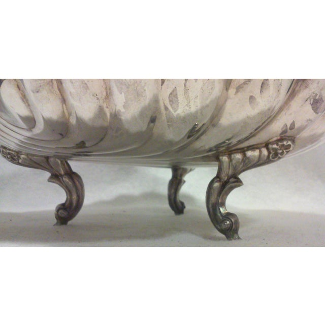 Silver Silverplated Swan Lidded Serving Dish For Sale - Image 8 of 10