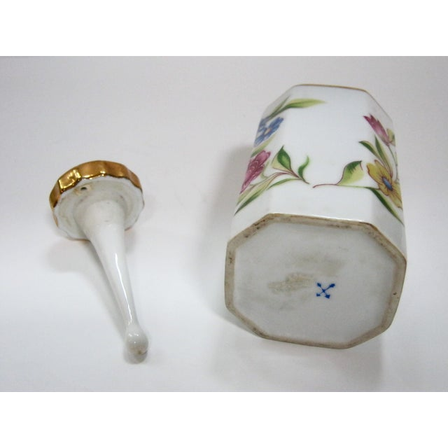 Antique Hand Painted Floral German Perfume Bottle / Decanter For Sale In Providence - Image 6 of 6