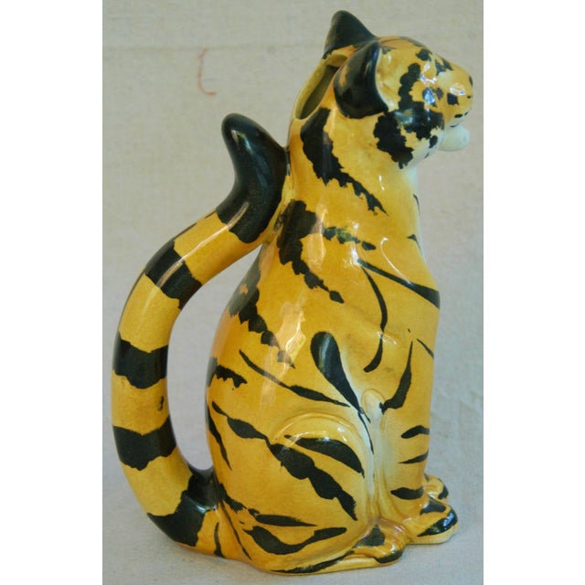 Italian Hollywood Regency Tiger Pitcher For Sale - Image 5 of 8