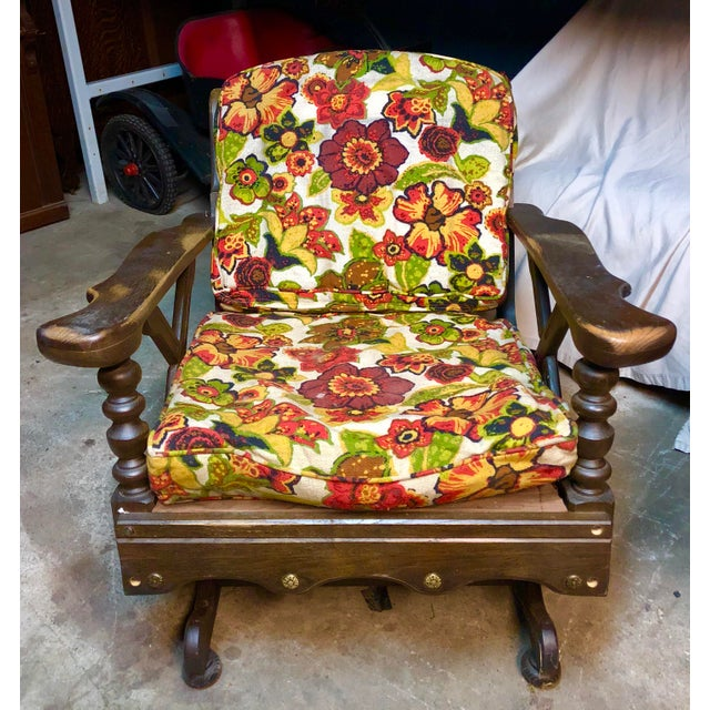 Mid-Century Floral Print Bantam Rocker For Sale - Image 6 of 6