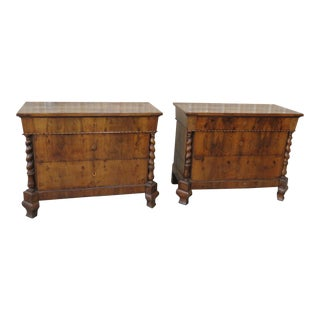 Mid Century Regency Style Commodes - a Pair For Sale