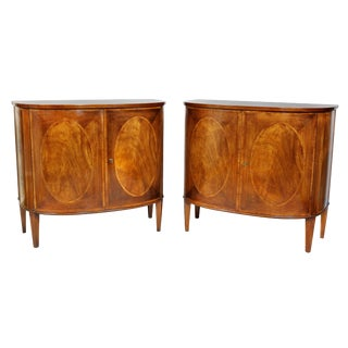Pair of George III Style Mahogany Cabinets For Sale