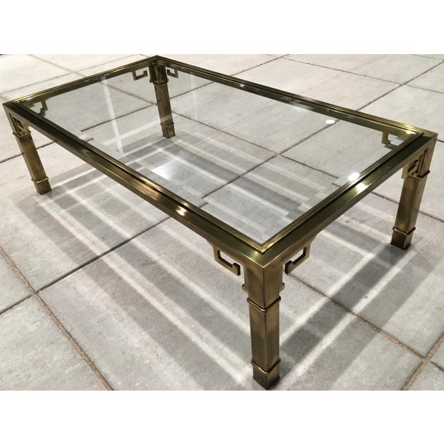 Brass Mid-Century Greek Key Coffee Table by Mastercraft For Sale - Image 8 of 13