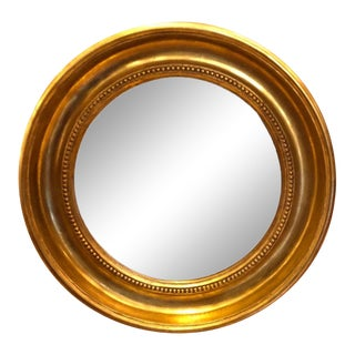 Round Empire Style Gold Mirror by Randy Esada Designs For Sale