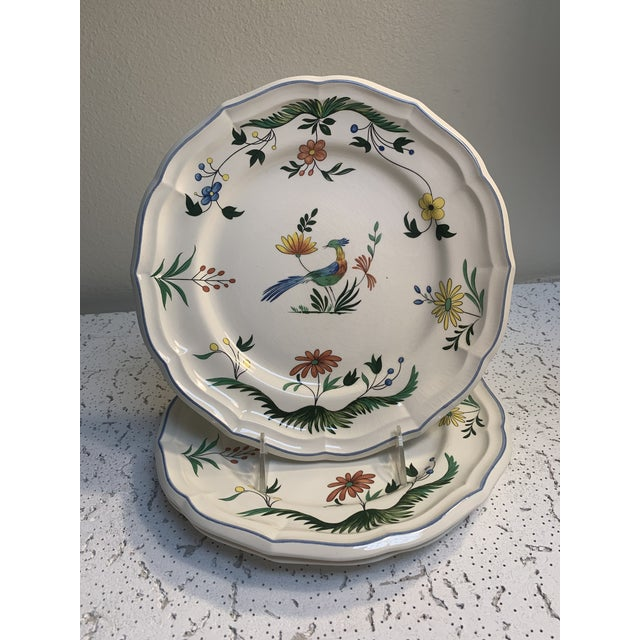 Gien Vintage Faience Gien Plates - Set of 3 For Sale - Image 4 of 4