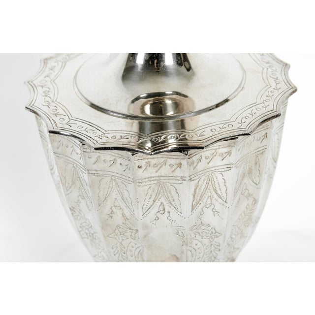 Late 20th Century Plated Covered Urn / Dish For Sale - Image 4 of 10