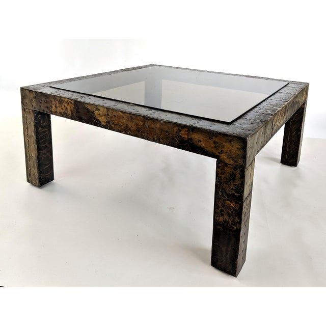 1960s Mid-Century Modern Paul Evans Brutalist Mixed Metals Patchwork Coffee Table For Sale - Image 11 of 11