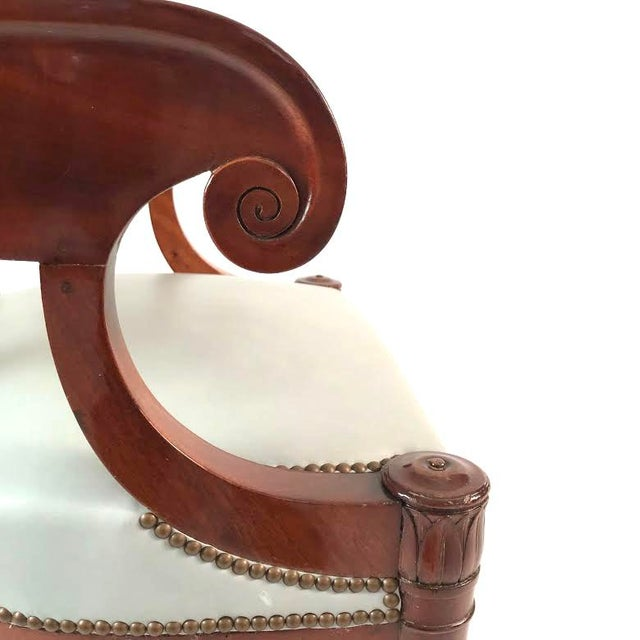 19th Century French Empire Period Mahogany Armchair For Sale - Image 4 of 12