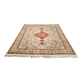 """Made in India Wool Rug Handmade 96""""x 116"""" For Sale"""