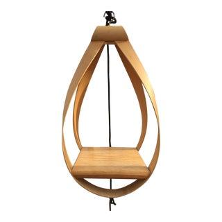 Vintage Danish Modern Hanging Bent Wood Shelf