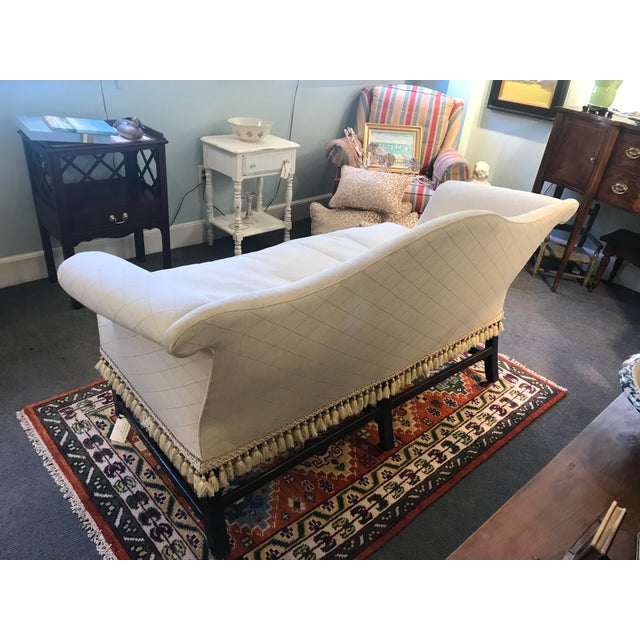 Wood Federal Camelback Mahogany Loveseat For Sale - Image 7 of 8
