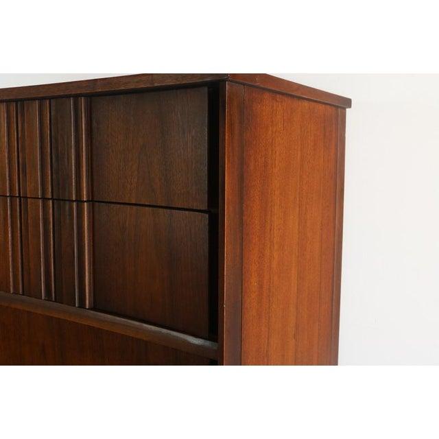 Wood Edmond Spence Tall Dresser in Walnut, Sweden For Sale - Image 7 of 11