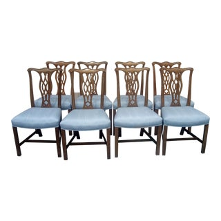 1960s Vintage Henredon Chippendale Side Chairs- 8 Pieces For Sale