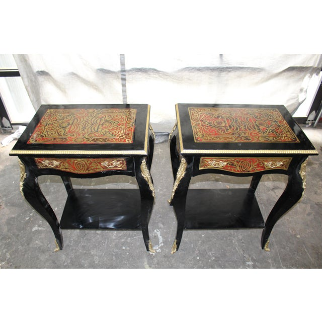 19th Century Art Noveau Boulle Occasional Tables - a Pair For Sale - Image 10 of 10