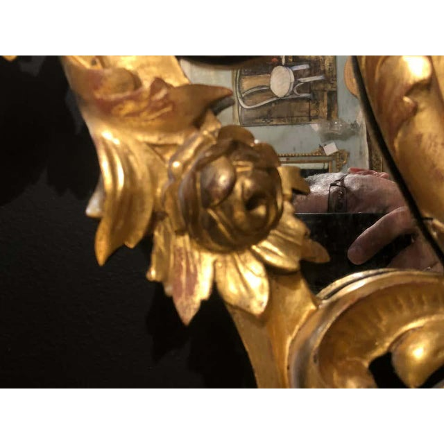 19th Century Gilt Mirror Wall or Console Mirror, French Finely Carved For Sale In New York - Image 6 of 12