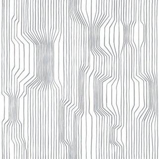 Marimekko Frekvenssi White/Cream Wallpaper For Sale