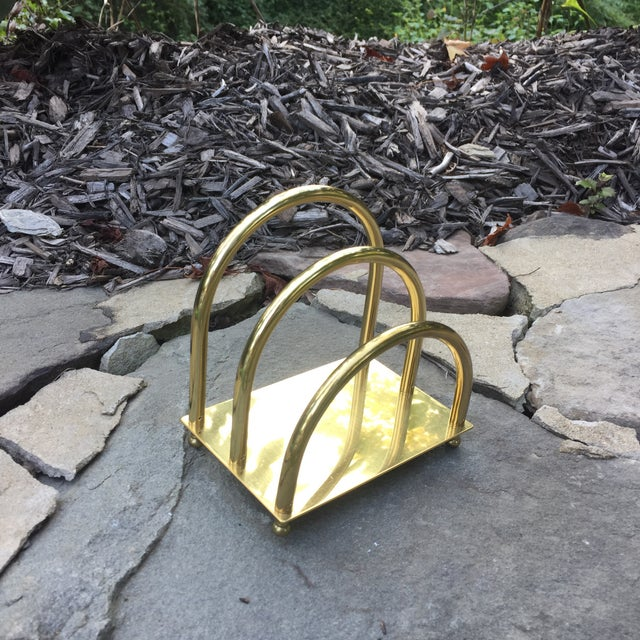 Vintage Brass Art Deco Mail Holder - Image 2 of 7