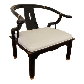 1980s Century Chair James Mont Lacquered Ming Chair For Sale