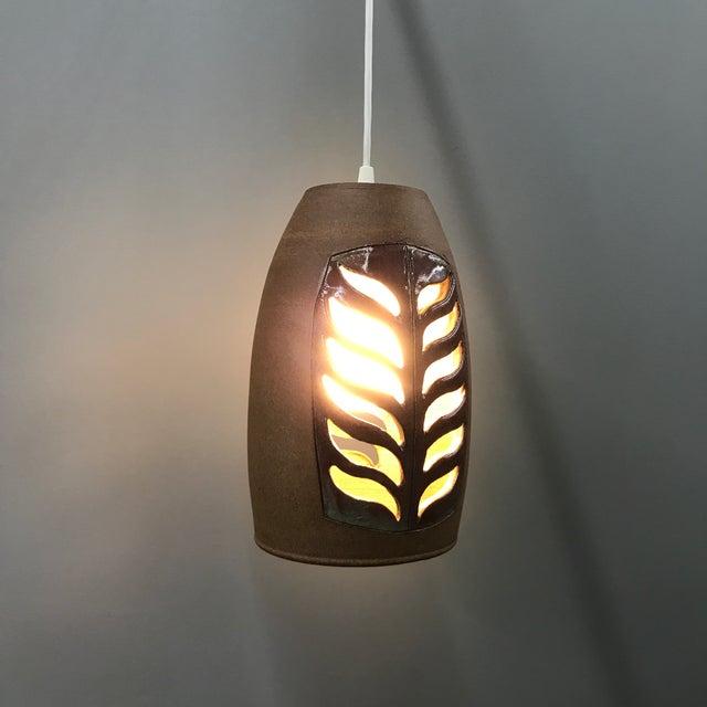 Brent Bennett Ceramic Pendant Lamp For Sale - Image 5 of 9