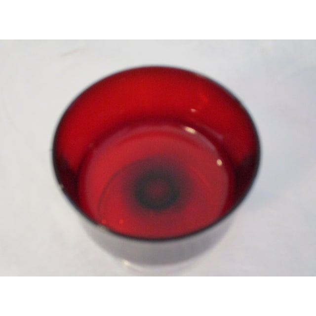 French Ruby Red Crystal Cavalier Coupes - Set of 11 For Sale In West Palm - Image 6 of 6