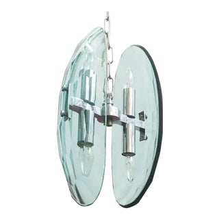 Mid 20th Century Cristal Arte Beveled Glass Pendant For Sale