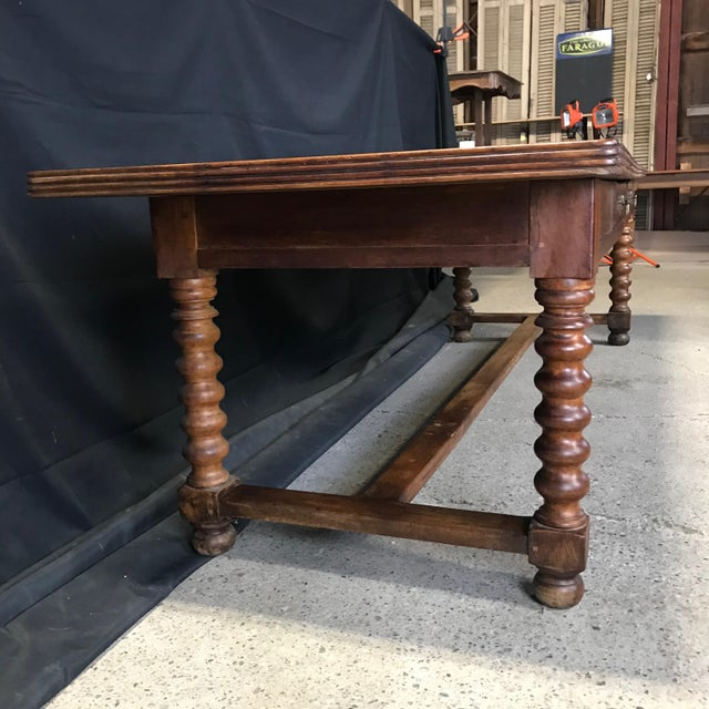 Antique French 19th Century Walnut Dining Table For Sale - Image 10 of 13