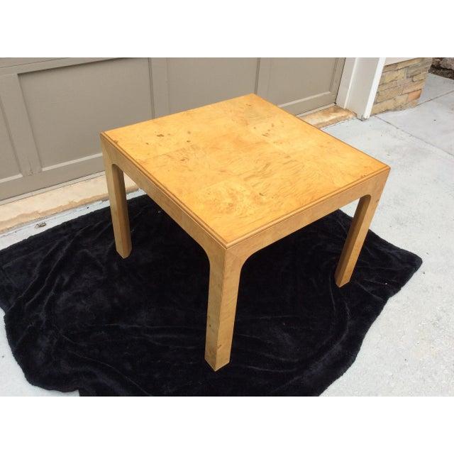 Mid Century Modern Henredon Scene Two Burlwood Table For Sale - Image 9 of 11