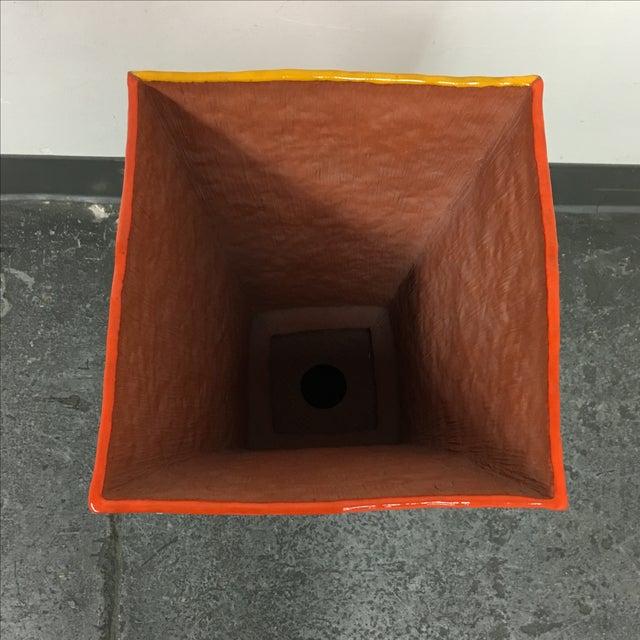 """Brown Velvet Matting """"Earth Vessel"""" - Image 4 of 9"""