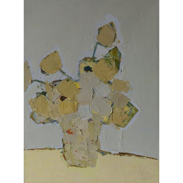 Abstract floral oil on canvas, by Bill Tansey.