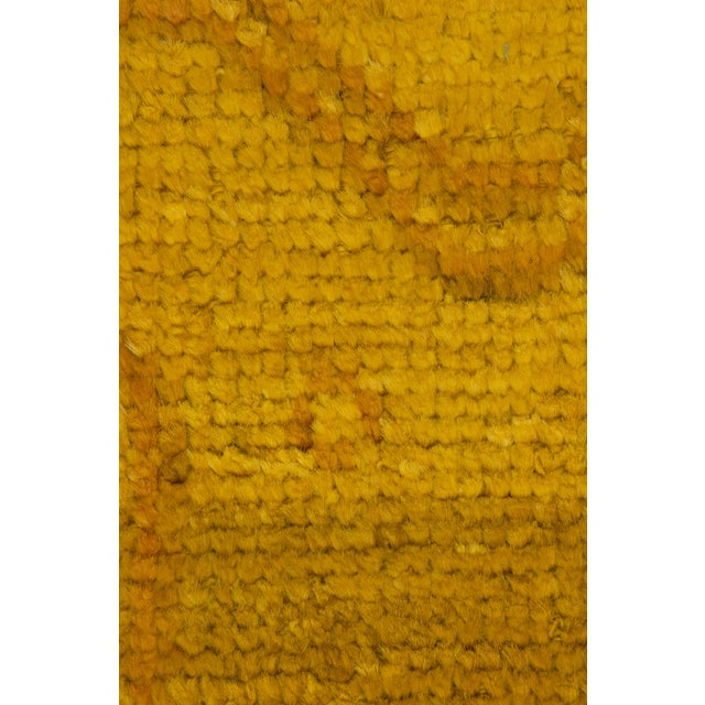 """Yellow Moroccan Hand-Knotted Rug - 5' 0"""" x 7' 10"""" - Image 3 of 3"""
