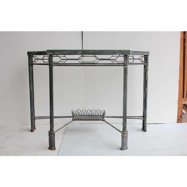 Modern Demilune/Console Metal Table, 2 available - Image 5 of 5