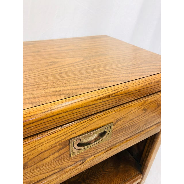 Pair Vintage Campaign Style Side Tables For Sale - Image 11 of 13