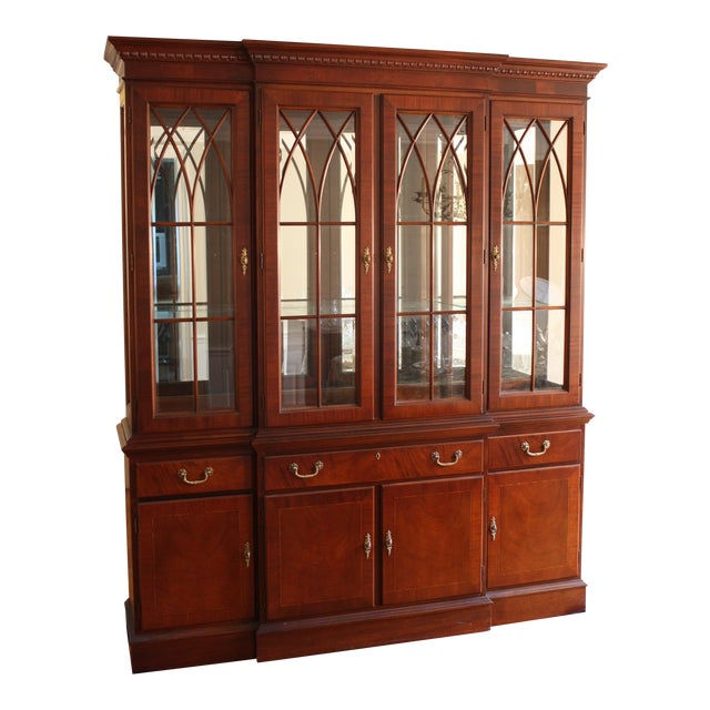 Ethan Allen 18th Century Mahogany China Cabinet - Image 1 of 3