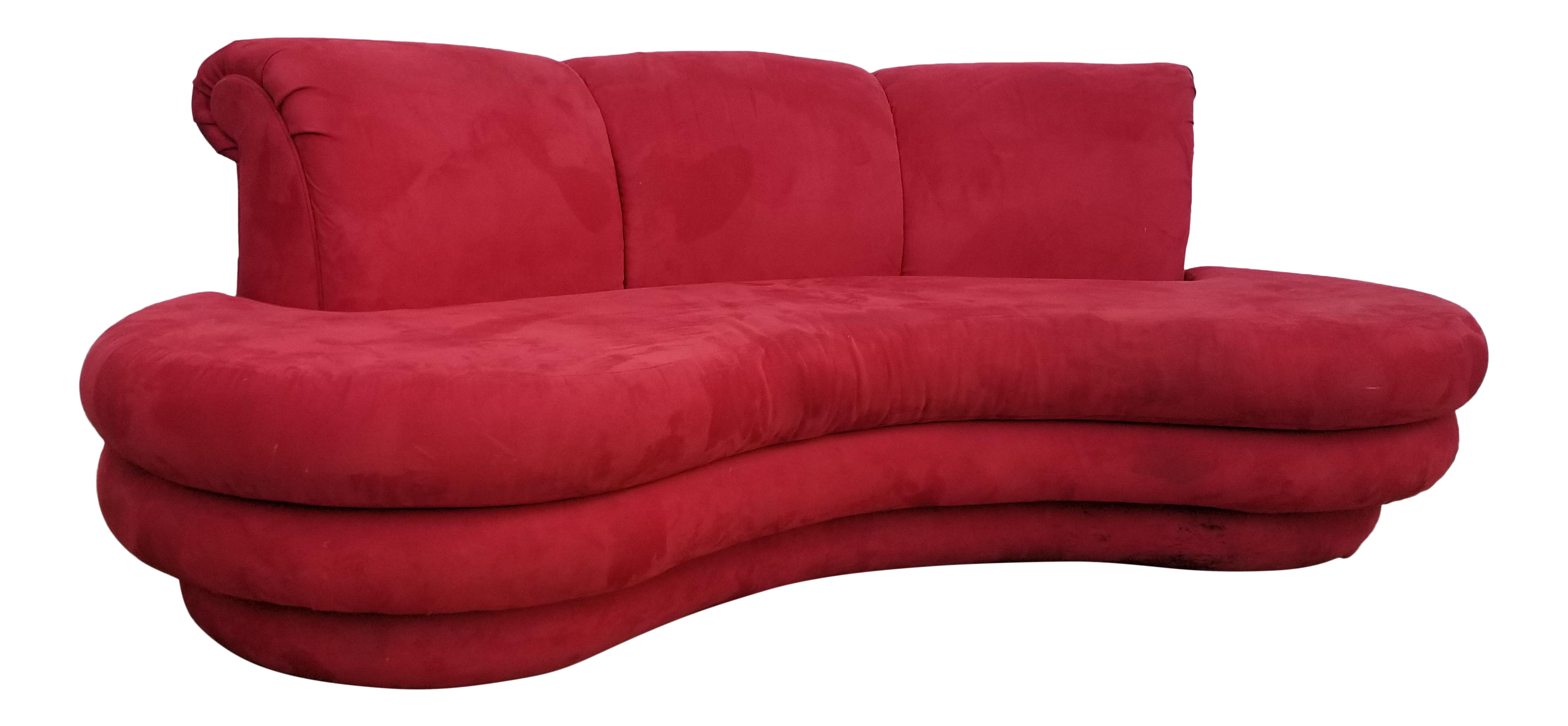 red curved sofa – Home and Textiles