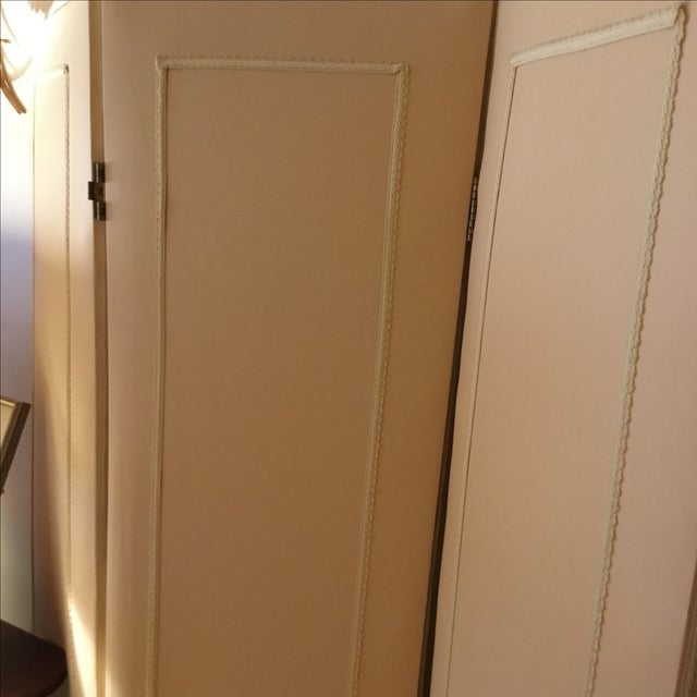 Upholstered Three-Leaf Screens - A Pair - Image 3 of 6